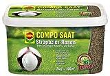 COMPO SAAT® Strapazier-Rasen, hochwertige Rasensamen-Mischung, für Rasen der wenig anfällig für Rasenkrankheiten ist, 2 kg für 100 m²