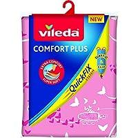 Vileda Comfort Plus Funda para Tabla de Planchar, Tela, Rosa, 137,5 x 45,5 cm