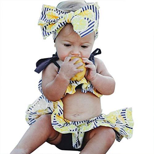 Cuteelf Kinder Baby Mädchen Cartoon Kaninchen Tops Print Strampler Hosen Party Kleidung -