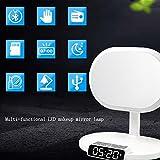 HAIZHEN LED-Make-up-Spiegel Lampe Aufladen über USB Bluetooth Audio Schreibtischlampe Alarm Ten-in-One Multifunktionsdrucker Nachttischlampe