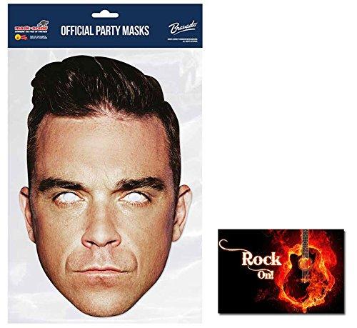 Sänger Kostüm Pop - Robbie Williams berühmtheit Sänger Single Karte Partei Gesichtsmasken (Maske) Enthält 6X4 (15X10Cm) starfoto
