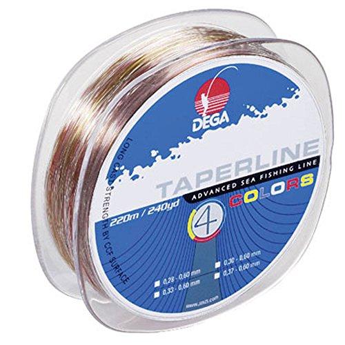 Dega TAPER LINE 4-color SCHLAGSCHNUR 4-farbig (Ø 0.28 - 0.60 mm)