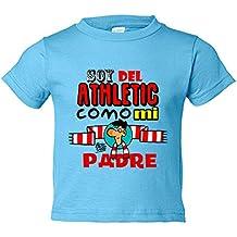 Camiseta niño soy del Athletic como mi padre Jorge Crespo Cano
