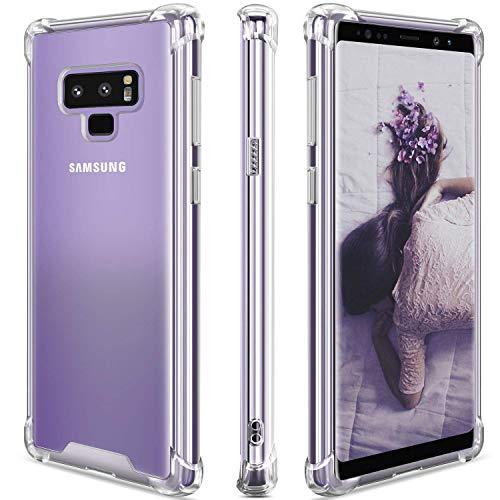 JProtect Hülle für Samsung Galaxy Note 9 Shockproof | Transparentes Stoßsicheres TPU | Bumper case Cover Schutzhülle | Ideale Passform | Unterstützt Kabelloses Laden |