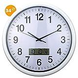 Inalsa Reloj Analogico y Digital, Blanco