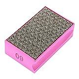 60-400 Grit Diamant Hand Polierscheiben Hand Schleifen Pad Diamant Steinschärfer für Stein Marmor Glas Granit Schleifen Polieren und scharfe Kanten (# 60)