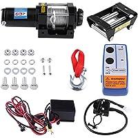 Cable Winch, 12 V Heavy Duty acero Power Winch para coche barco ATV, 4000lb capacidad de carga