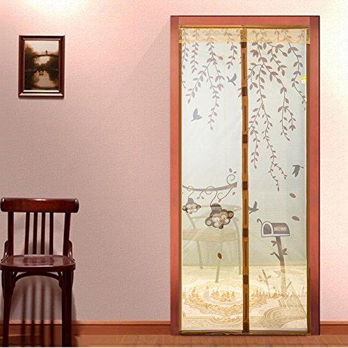 Full-frame velcro Türen für häuser bildschirm,Türen mit magneten bildschirm Velcro magnetische tür siebgewebe Sommer] Abgeschnitten Der moskito Tür vorhang Bildschirm-B 85x200cm(33x79inch)