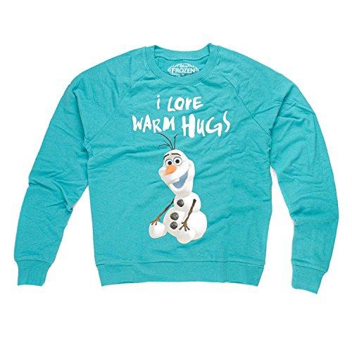 Disney Frozen Sitting Olaf I love Warm Hugs Junioren Pullover Sweatshirt | XS (Junioren Disney Sweatshirt)