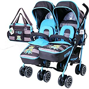 iSafe Twin OPTIMUM Stroller - iDiD iT (Complete with Changing Bag)   5