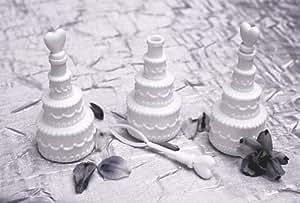 Lot de 48 flacons à bulles pour mariage Blanc-Gâteau NEW