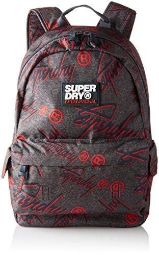 Preisvergleich Produktbild Superdry Herren Super Crew Montana Rucksack,  Grau (Dark Grey / Pop Red),  30.0 x 45.0 x 15.0 cm