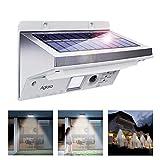 Solarleuchten, Solar LED Außenleuchte 3 Intelligiente Modi, Wandleuchte, Energiesparende Wasserdicht, mit Bewegungs-Sensor-Licht für Garten, Zaun, Terrasse, Patio