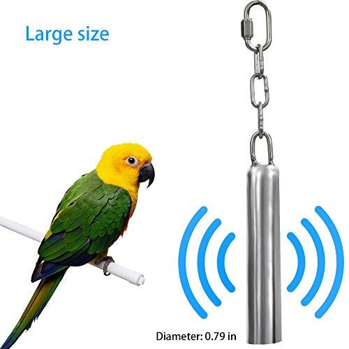 Bird Toys Edelstahl-Glocke zum Aufhängen Vogel Parrot Käfig Bite Spielzeug Eichhörnchen Parrot Taube Swing Ständer Toys Glocken (großes) (Vogel Glocke)
