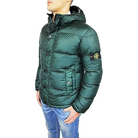 Giubbino Piumino uomo Stone Island art. 591545424 verde mod Garment Dyed Down Jacket piuma d'oca taglia XL - Stone Island Verde