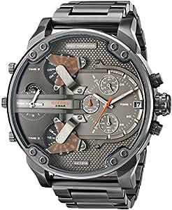 diesel homme bracelet boitier acier inoxydable noir quartz chronographe montre dz7315 amazon. Black Bedroom Furniture Sets. Home Design Ideas