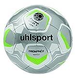 Uhlsport Triomphéo Match Ballon de Football Mixte Adulte, Argent/Noir/Vert Fluo, Taille 5