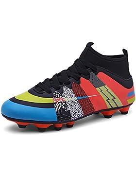 [Patrocinado]Easondea Botas de Fútbol Zapatos de Fútbol Dedicados FG Spike Grapas de Fútbol Profesional Unisex Niño Deportes...