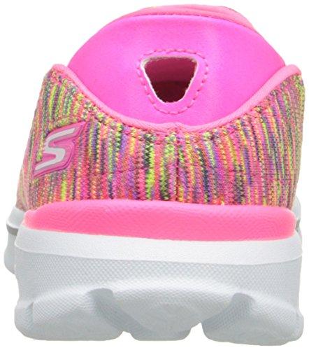 Skechers Go Walk 3Crazed, Scarpe da Ginnastica Donna Hot Pink/Lime
