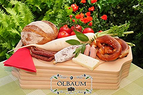 Chopping Board 6x – Wooden and Solid High Quality 15 mm Ideal for BBQ and Grill Rectangular Each Measuring Approximately 50 cm x 29 cm Traditional with Two Side Handles Natural New, Bruschetta Serving Board with Bread Time and Bavarian Bread Chopping Board with Handle and Grill BBQ Barbecue Board Frame Solid Cutting & BBQ Boards Sideboard and BBQ, Breakfast And BBQ Boards Lunch and Grill Planks