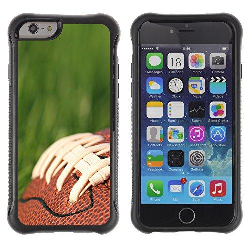 Graphic4You Amerikaner Fußball Football Sport Design Shockproof Anti-Rutsch Weichen Hülle Case Tasche Schutzhülle für Apple iPhone 6 Plus / 6S Plus Design #2