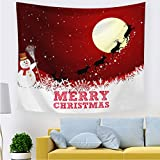SZFYZCY Tapisserie Weihnachten Muster-Druck-Tuff Stoff Dekoration-Raum-Weihnachtsmuster Druck Wandteppiche Hanging Cloth,B,200 * 150CMthickflannel