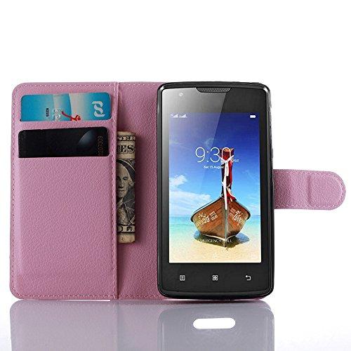 Easbuy Pu Leder Kunstleder Flip Cover Tasche Handyhülle Case Mit Karte Slot Design Hülle Etui für Lenovo vibe A A1000 Smartphone Handytasche
