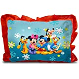 Sleep Nature's Baby Pillow For Kids|Soft Baby Pillow|Rectangle Shape|Soft Toys|Cartoon Printed|Red Colour Pillow|Pillow Size 14x20 Inches|47
