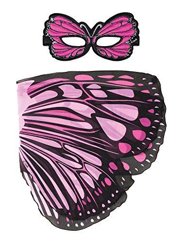 Dreamy Dress-Ups 66353Mask + Wings, Flügel + Maske, Pink Burst Butterfly, Schmetterling ()