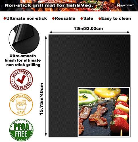 51CfnjdJNjL - Romanticist 28pcs Grillkoffer mit Grillmatte für Männer Heavy Duty Komplette Grillset Edelstahl Grillbesteck mit Aluminium Aufbewahrungskoffer Männer Camping Grillen