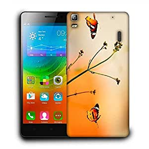 Snoogg Multicolor Flying Color Designer Protective Phone Back Case Cover For Lenovo A7000 / Lenovo K3 Note