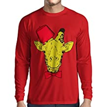 N4368L Camiseta de manga larga Fashion giraffe