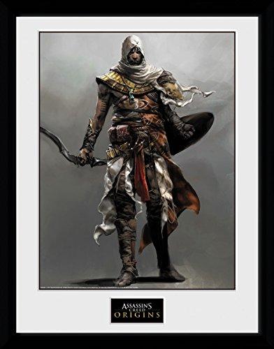 Preisvergleich Produktbild 1art1 106729 Assassins Creed - Origins, Solo Gerahmtes Poster Für Fans Und Sammler 40 x 30 cm