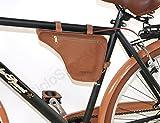 DIEFFE Borsello Spallaccio Borsetta per bici telaio UOMO Vintage in eco pelle - Marrone