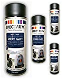 Lack Farbe Spruehlack Lackfarbe Acryllack 400 ml schwarz matt, mattschwarz hitzebeständig 800 C