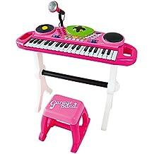 ItsImagical - Mic-keyboard Garageband, teclado electrónico con micrófono de color rosa (Imaginarium 88103)
