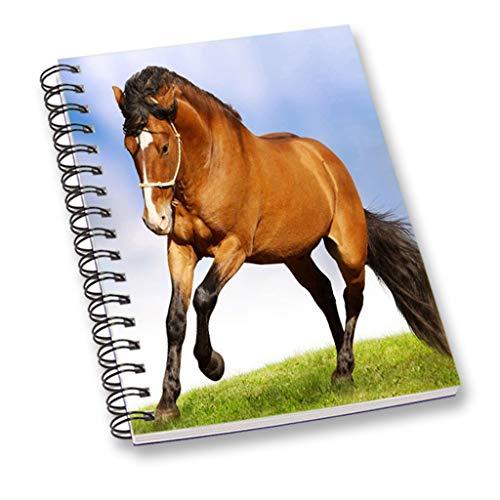 Pferd gedrucktes Notizbuch mehrfarbiges a5 Blatt glattes Papier persönliches oder Büro stationäres Notizbuch, Tagebuch (Pferd Stationär)