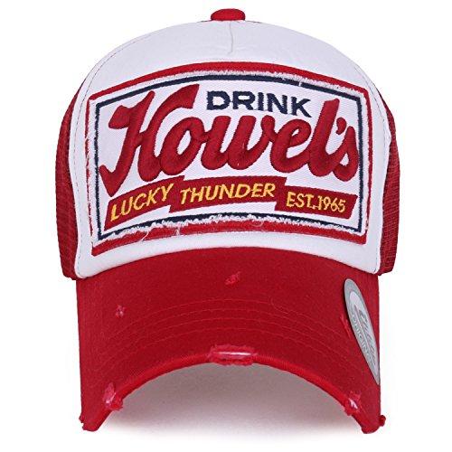 ililily Howel's Distressed Vintage Baseball Mesh Cap Trucker Hat Aus Trucker Hats