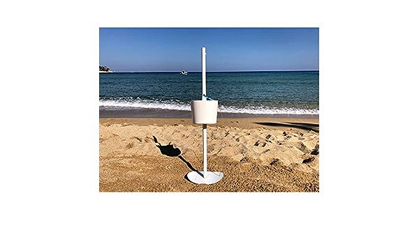 Fangteke Pied de Parasol Base de Parasol en m/étal Pliable Support dancre de Parapluie de r/ésistance au Vent Fort Trou Central r/églable Facile /à Assembler et Simple /à r/égler