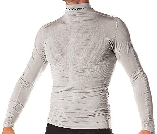 Outwet WP3ZIP-Maglietta intima a maniche lunghe da uomo