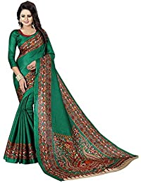 Vinayak Trendz Saree Sale Women's Art Khadi Silk Sarees With Blouse Piece Sari(Saree Blue Patta)