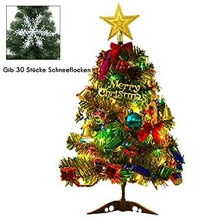 EisEyen-Knstlicher-Weihnachtsbaum-Tannenbaum-Christbaum-50cm-grn-Weihnachtsbaum-klein-mit-Beleuchtung-Multicolor-LED-und-Weihnachtsschmuck-mit-LED