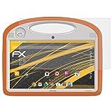 atFolix Panzerfolie kompatibel mit Archos 101 ChildPad Schutzfolie, entspiegelnde & stoßdämpfende FX Folie (2X)