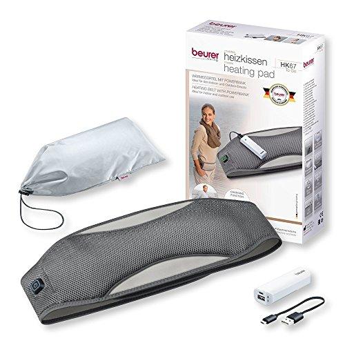Beurer HK 67 To Go Wärmegürtel mit Powerbank (Wärmekissen für Bauch und unteren Rücken mit externer Stromversorgung für Ihr Smartphone)