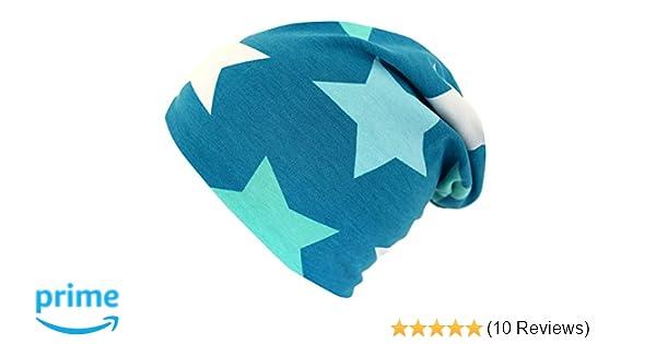 Wollhuhn /ÖKO Long-Beanie M/ädchen Big Stars Petrol-hellblau-Mint ganzj/ährig Innenseite Uni grau Wende-M/ütze 20151102 Jungen u