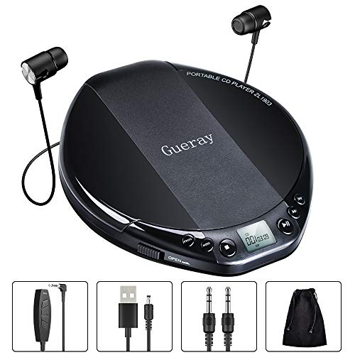 Gueray Lecteur CD Portable HiFi ...