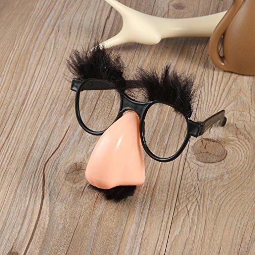 k Fake Nase Augenbrauen Schnurrbart Clown Kostüm-Requisiten Spaß Party Gastgeschenk Brille Großhandel ()