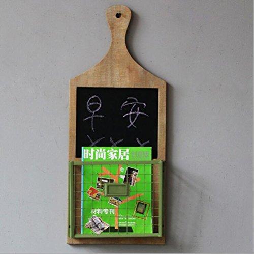 DUO Bücherregal Trockenes Löschen-Brett, Posthalter und Schlüssel-Gestell-Organisator - an der Wand befestigter Buchstabe-Regal und Schlüsselhaken für Eingang oder Küche Hängeregal, ( Farbe : A ) (Große Metall-schlüssel-wand-dekor)