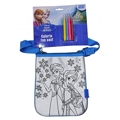 La reine des neiges - Sac bandoulière plat à colorier Reine des neiges
