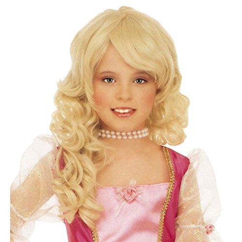 Perücke Blonde Prinzessin (Kinder Perücke Prinzessin blond Faschingsperücke Prinzessinnen Prinzessinnenperücke blonde Kinderperücke Fasnet)